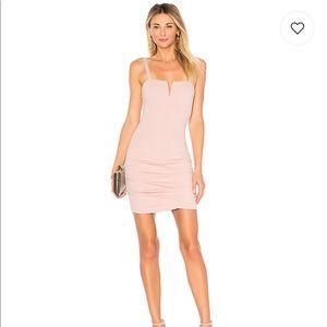 Alma V Wire Mini Dress in Mauve/Pink